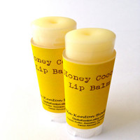 Organic Honey Cocoa Lip Balm, Beeswax, Cocoa Butter, Pure and Natural
