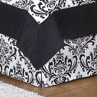 Black and White Isabella Bed Skirt for Crib and Toddler Bedding Sets by JoJo Designs $44.95