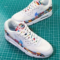 2018 World Cup Nike Air Max 90 Nic Qs International Flag Sport Running Shoes - Best Online Sale