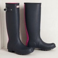 Racing Stripe Rain Boots by Anthropologie Pink 5 Boots