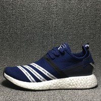Best Deal Online Adidas Boost NMD R2 PK White Mountaineering Primeknit Women Men Running Shoes BB3072