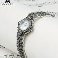 GAGAFEEL Women's Bracelet Watch 925 Sterling Silver Wristwatch Clock Luxury Brand Dress Watches Hours for Ladies Woman