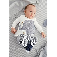 2016 Baby Clothes Spring O-neck Cotton Baby Romper Newborn T-shirt+pants  Baby Boy Clothes Jumpsuit Infant Clothing