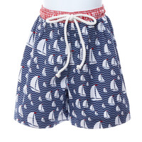 Toddler Boy Sail Away Sailboat Swimsuit