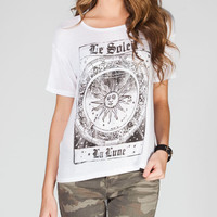 H.I.P. Le Soleil Womens Hi Low Tee White  In Sizes