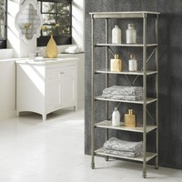 Home Styles Orleans Six Tier Shelving Unit - Marble Laminate