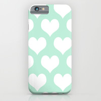 Hearts of Love Mint Green iPhone & iPod Case by Beautiful Homes