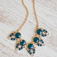 Lily Teal Statement Necklace