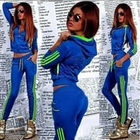 2 Piece WomenLong Sleeve Tracksuits Summer Sports Suits [9222648644]