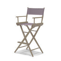 Rustic Grey World Famous Director Chair- Bar Height - Grey Cover