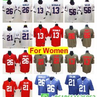 women  New York Saquon Barkley Odell Beckham Jr Lawrence Taylor Landon Collins Eli Manning Damon Harrison rush football jerseys