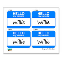 Willie Hello My Name Is - Sheet of 4 Stickers