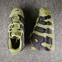 "Nike Air More Uptempo AIR ""Reflective"" Green/Black Sneaker"