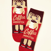She Did the Monster Dash Socks in Coffee
