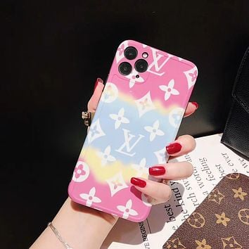Louis Vuitton LV iPhone Apple 11pro mobile phone case XSMax all-inclusive 78P couple XR glossy
