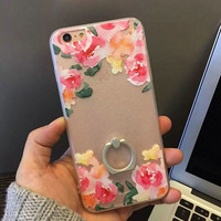 Iphone 6/6s Cute On Sale Hot Sale Hot Deal Stylish Floral Ring Silicone Phone Case [4915504836]