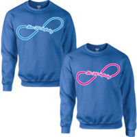 HERS TILL INFINITY HIS TILL INFINITY COUPLE SWEATSHIRT