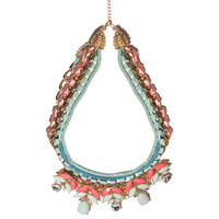 Green Statement Multi Row Necklace