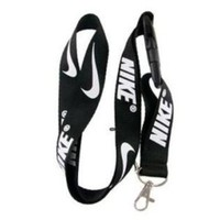 Nike Black Lanyard Keychain Holder