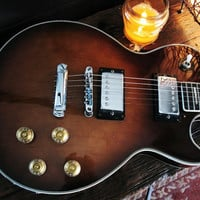 For Rockers and guitar collectors a rare 1968 Empro low serial num Walnut Burst Les paul guitar with 1950s Alligator case