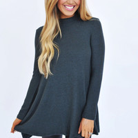 Hunter Green Long Sleeve Soft Tunic