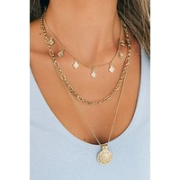 Keep It Classy Layered Necklace (Gold)