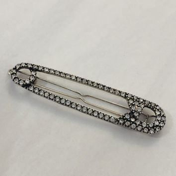 Safety Pin Hair Barrette