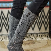 Cozy Leaf Knit Boot Liners