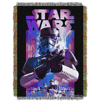 Star Wars Storm Ahead  Woven Tapestry Throw (48inx60in)