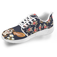 Floral Hound Athletic Sneakers-Clearance
