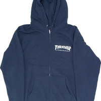 Thrasher Skate Mag Zip Hoody/Sweater Large Navy