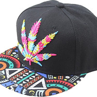 Cool Kings Hip Pop Marijuana Weed Green Snapback Cap Hat Men Baseball Cap