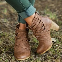 On Sale Hot Deal High Heel Roman Zippers Boots [120849891353]