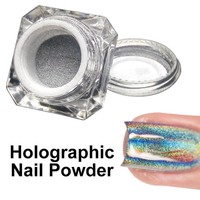Holographic Laser Nail Manicure Glitters  Rainbow Powder
