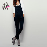 Haoduoyi  Womens Streetwear Pockets Brief Elegant Casual Solid Bodysuit Girl Ladies Overalls Rompers Jumpsuits
