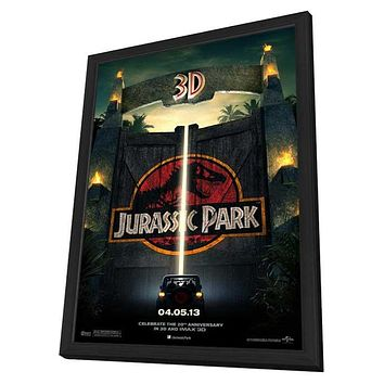 Jurassic Park 3D 27x40 Framed Movie Poster (2013)