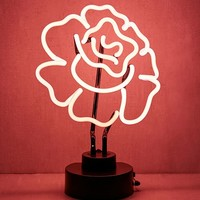 Cabbage Rose Neon Sign Table Lamp   Urban Outfitters
