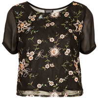 Net Organza Embroidery Tee - New In This Week - New In - Topshop USA