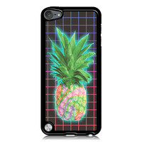 Electric Grid Tie Dye Pineapple Case for Apple iPod Touch 5