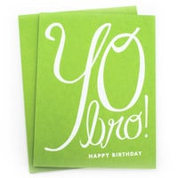 Yo Bro! Birthday Card