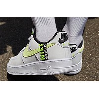 Nike Air Force 1 Low Worldwide White Volt low-top fashion casual sneakers shoes