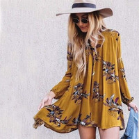 Lune & Stars Tunic Dress in Mustard