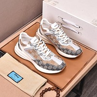 Gucci2021  Men Fashion Boots fashionable Casual leather Breathable Sneakers Running Shoes0517qh