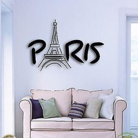 Wall Stickers Vinyl Decal Paris Eiffel Tower France Europe Cool Decor Unique Gift (z1586)