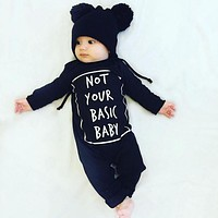 New 2016 baby boy clothing cotton newborn baby girl clothes long sleeve letter baby romper infant newborn jumpsuit