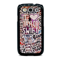 Taylor Swift Song Collage Samsung Galaxy S3 Case