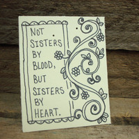 Add-On Item // Hand Drawn Earring Card with Friend Quote // give your gift a personal touch // Gift Idea for Best Friend // Friendship Gifts