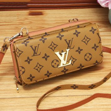 Louis vuitton fashionable hot print gold label women casual one-shoulder shopping bag