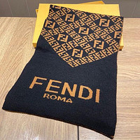 Fendi winter hot cashmere double-sided FF size letter flower bib shawl fashionable men and women scarves