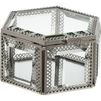 Silver Tone Hexagonal Mirrored Box 12x6cm - Decorative Accessories - Home Accessories - Home - TK Maxx